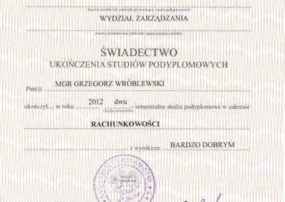 dyplom podyplomowy