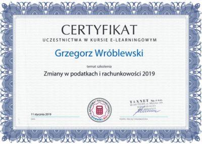 szkolenie podatki 2019
